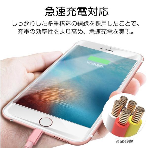 【最大15%OFF!クーポン対象】 iPhone 長さ 1.5m/1.0m/0.5m/0.25m 急速充電 データ転送 USBケーブル iPad XS Max XR X 8 7 6s PLUS 90日保証 合金製 importitem 13