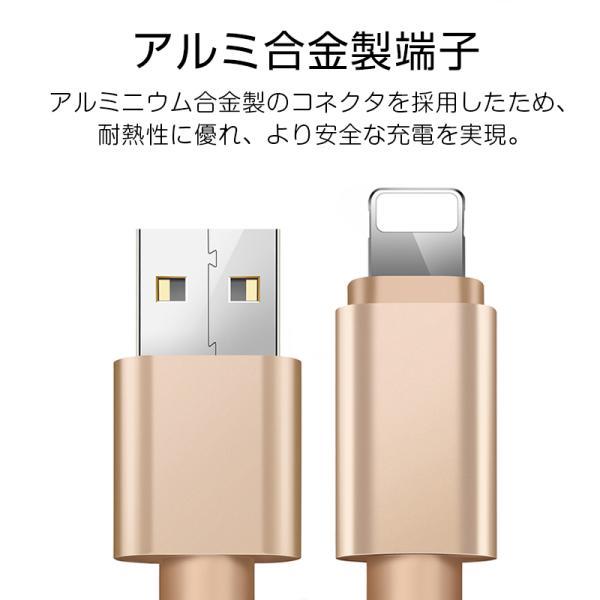 【最大15%OFF!クーポン対象】 iPhone 長さ 1.5m/1.0m/0.5m/0.25m 急速充電 データ転送 USBケーブル iPad XS Max XR X 8 7 6s PLUS 90日保証 合金製 importitem 08