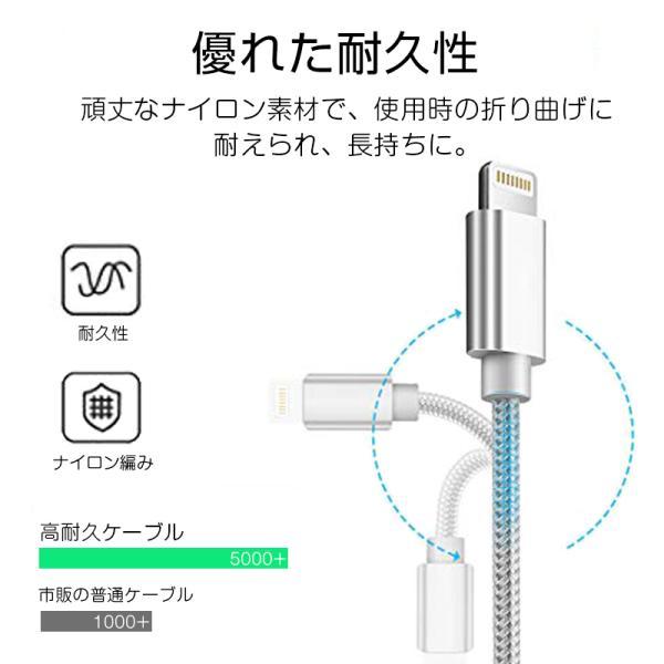 【最大15%OFF!クーポン対象】 iPhone 長さ 1.5m/1.0m/0.5m/0.25m 急速充電 データ転送 USBケーブル iPad XS Max XR X 8 7 6s PLUS 90日保証 合金製 importitem 10