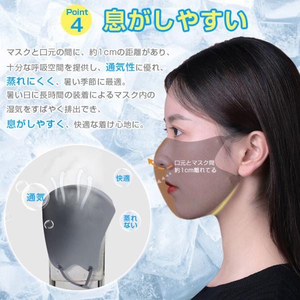【最大15%OFF クーポン対象】 マスク ひんやり 3枚入 潤い 蒸れにくい 接触冷感 個包装 耳ひも 調整可 当日発送 秋冬用 送料無料 飛沫 ウイルス 予防|importitem|06