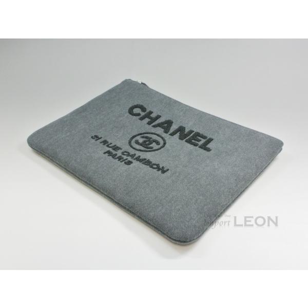 【お値下げ】CHANEL(シャネル)/ドーヴィルライン/スパンコールクラッチバッグ/グレー/A80117【新品】