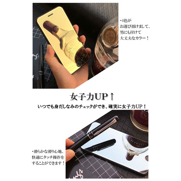 iPhone強化ガラスフィルム ミラータイプ 鏡 フルカバー iPhoneX,8,7,6 アイフォン ピンク シルバー ブルー ゴールド|importmarket|05