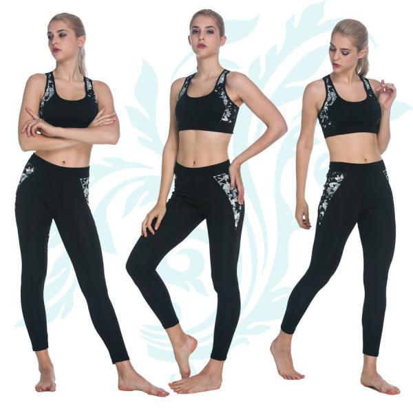 スポーツレギンス  ヨガパンツ ヨガウェア フィットネス 7分 9分丈 サイドライン 美脚 吸汗 速乾 伸縮 importmarket 10
