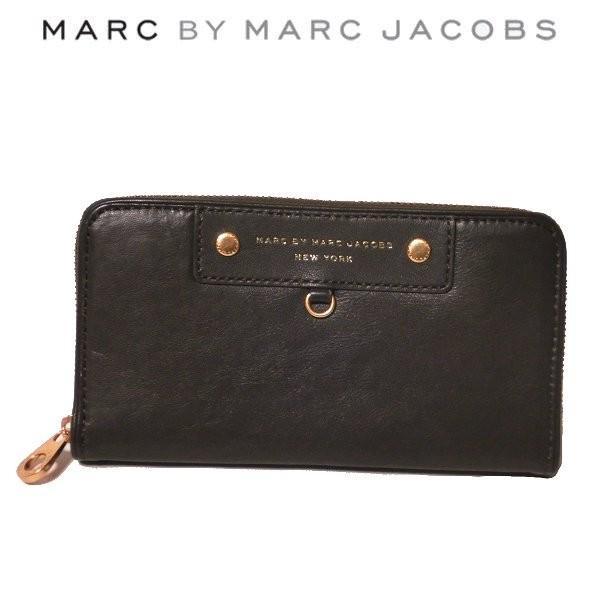マーク バイ マークジェイコブス MARC BY MARC JACOBS ラウンドファスナー 長財布 ラム レザー ブラウン M3111474