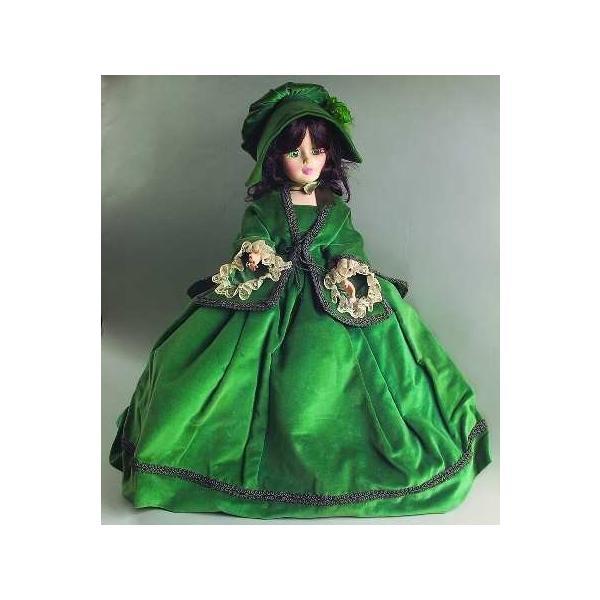 Scarlett Green Madame OHara # Portrait OHara 2240 Alexander Velvet Velvet Series Green Dress ...