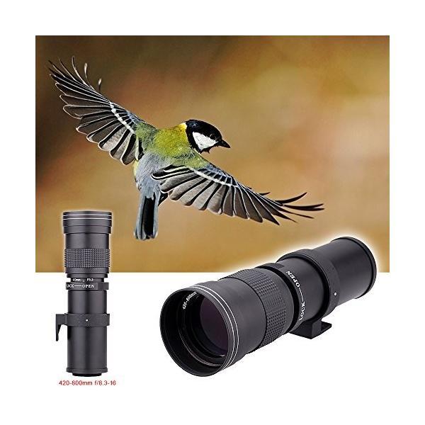 超望遠ズームレンズ 420-800mm F/8.3-16 Canon EOS EF Nikonデジタル一眼レフカメラ用