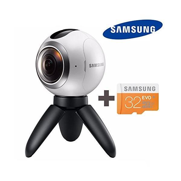 SAMSUNG 三星 サムスン ギア Gear 360度 VR カメラ(SM-C200) + Micro SD 32GB, 球状 Camera for Galaxy S6