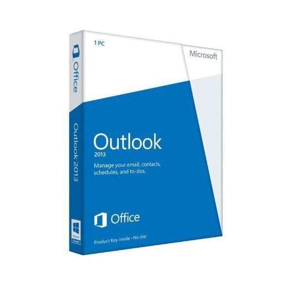 Microsoft Outlook 2013 Key Card (No Disc)