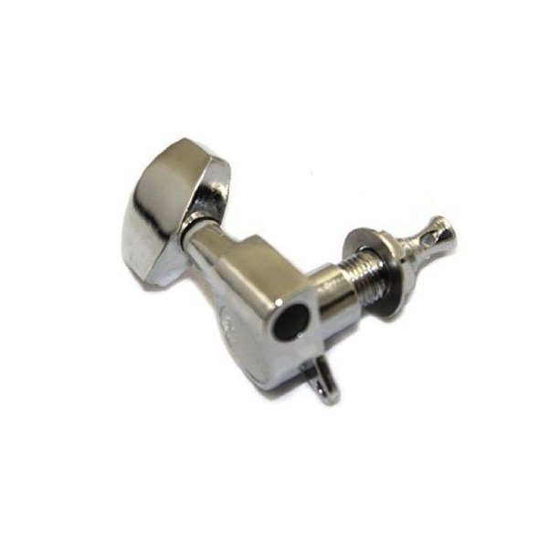 niceEshop(TM) 6ピース Chrome ギター弦 Tuning Pegs 弦セット Machine Heads(3L+3R)-Silver