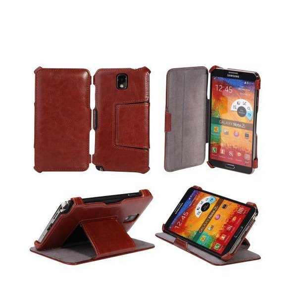 AceAbove Samsung Galaxy Note 3 Case - Protective Stand Case for Galaxy Note III [Brown]