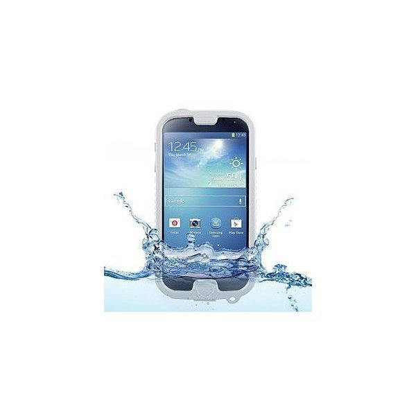 Naztech Vault Waterproof Cover/Case for Galaxy S4 - Retail Packaging - White