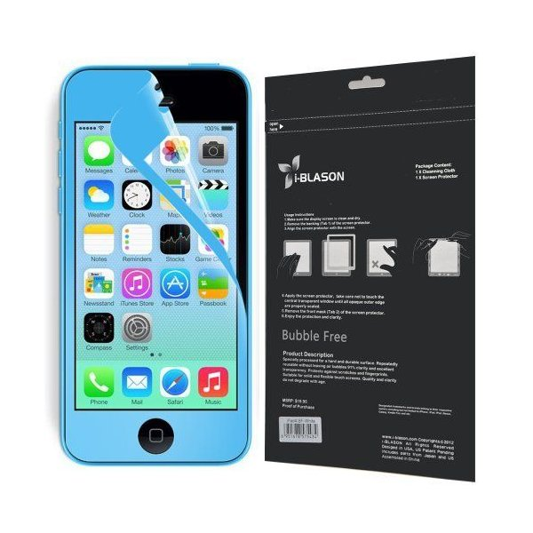 i-Blason HD Matte Bubble Free Screen Protector for Apple iPhone 5C Reusable Anti Glare (AT&T Veriz