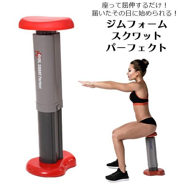 ジムフォーム スクワット ダイエット 器具 パーフェクト スクワットマシン 椅子 腹筋 トレーニング 筋トレ 下半身 ぽっこりお腹 お尻 太もも ヒップアップ|impossible-dream