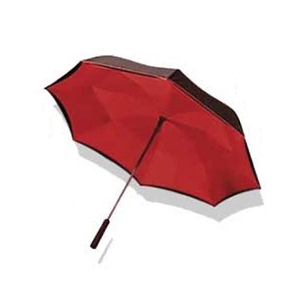 【送料無料】傘 レディース おしゃれ ワンダードライアンブレラ 逆さま傘 ワンタッチ 雨傘 濡れない傘 ブラック ブルー レッド 花柄 ローズ 男女兼用 台風|impossible-dream|10