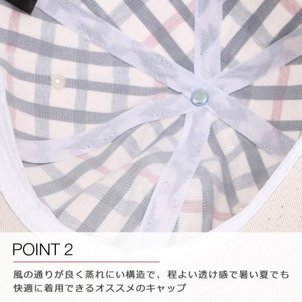 キャップ メンズ 帽子 ベースボールキャップ チェック おしゃれ ファッション|improves|04