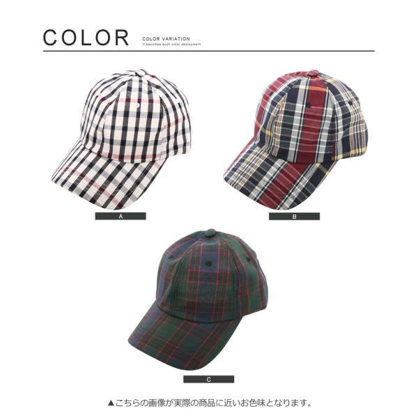 キャップ メンズ 帽子 ベースボールキャップ チェック おしゃれ ファッション|improves|05