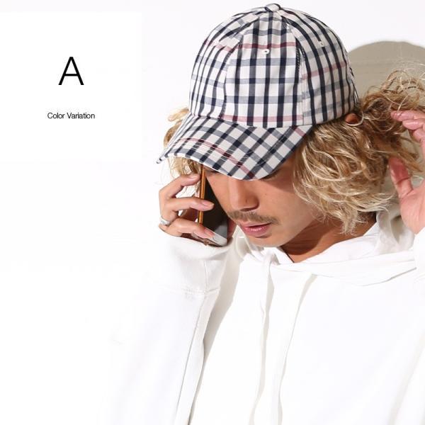 キャップ メンズ 帽子 ベースボールキャップ チェック おしゃれ ファッション|improves|07