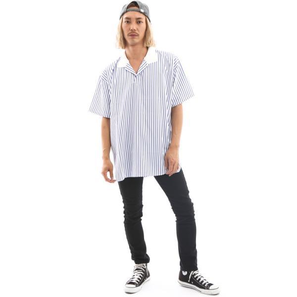 Inspiration improves select ビッグシルエット ポロシャツ スキッパーシャツ ストライプ 韓国 ファッション メール便対応|improves|11