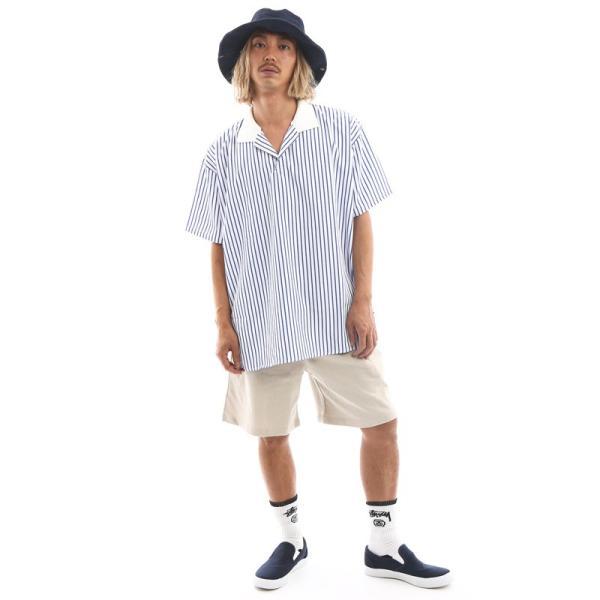 Inspiration improves select ビッグシルエット ポロシャツ スキッパーシャツ ストライプ 韓国 ファッション メール便対応|improves|12