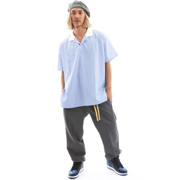 Inspiration improves select ビッグシルエット ポロシャツ スキッパーシャツ ストライプ 韓国 ファッション メール便対応|improves|13