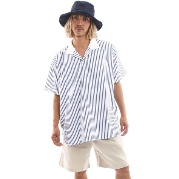 Inspiration improves select ビッグシルエット ポロシャツ スキッパーシャツ ストライプ 韓国 ファッション メール便対応|improves|05