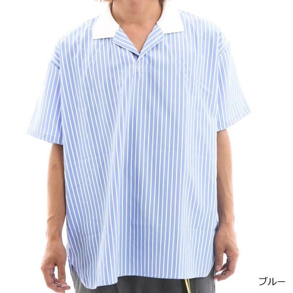 Inspiration improves select ビッグシルエット ポロシャツ スキッパーシャツ ストライプ 韓国 ファッション メール便対応|improves|06
