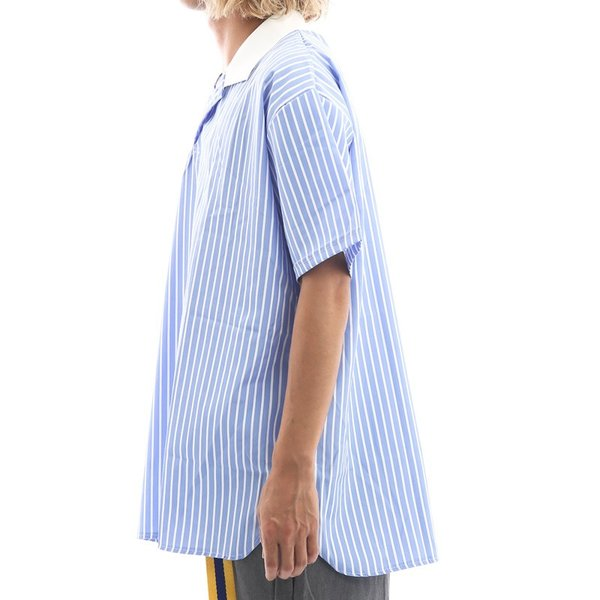 Inspiration improves select ビッグシルエット ポロシャツ スキッパーシャツ ストライプ 韓国 ファッション メール便対応|improves|07
