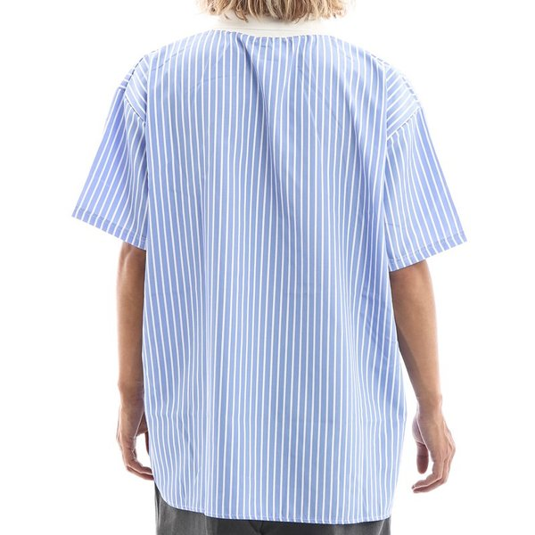 Inspiration improves select ビッグシルエット ポロシャツ スキッパーシャツ ストライプ 韓国 ファッション メール便対応|improves|08