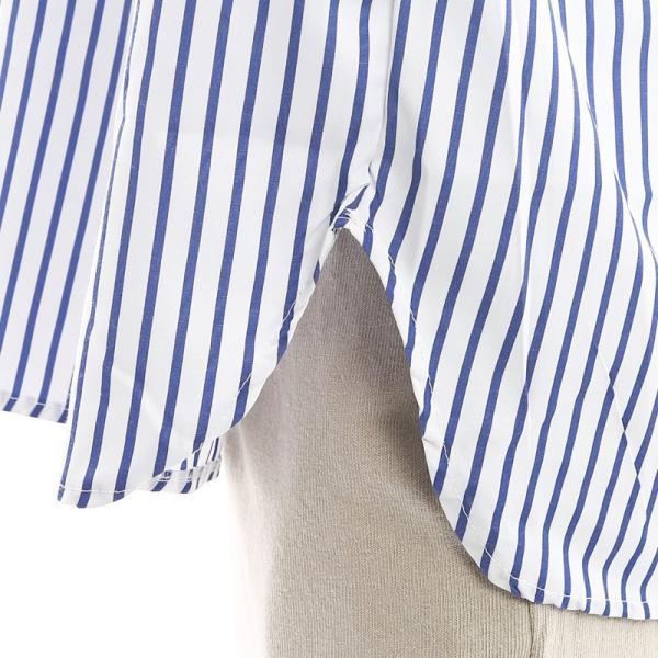 Inspiration improves select ビッグシルエット ポロシャツ スキッパーシャツ ストライプ 韓国 ファッション メール便対応|improves|10