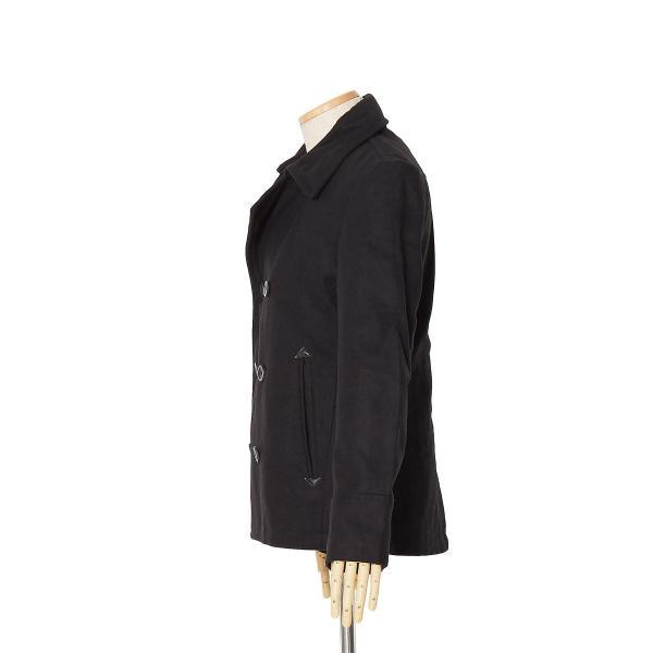 ピーコート メンズ Pコート メルトンウール ショート丈 ダブルボタン アウター ジャケット シンプル カジュアル スリム  黒 キャメル|improves|15