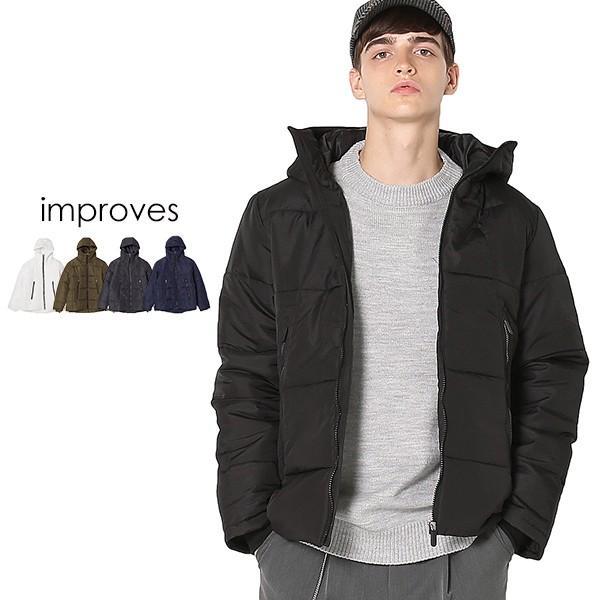 ジャケット メンズ アウター ブルゾン ジャンパー ダウンコート ダウンジャケット ライト 防寒 軽量 ミリタリー おしゃれ 夏 夏服 ファッション|improves
