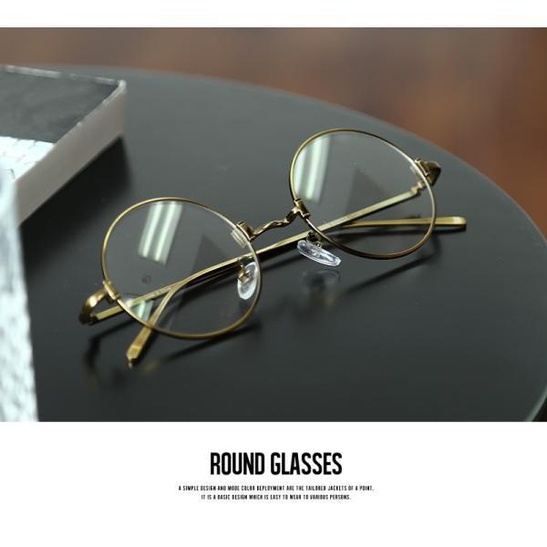 伊達メガネ 丸眼鏡 メンズ めがね ラウンド レトロ クラシック 丸型 おしゃれ ファッション|improves|04