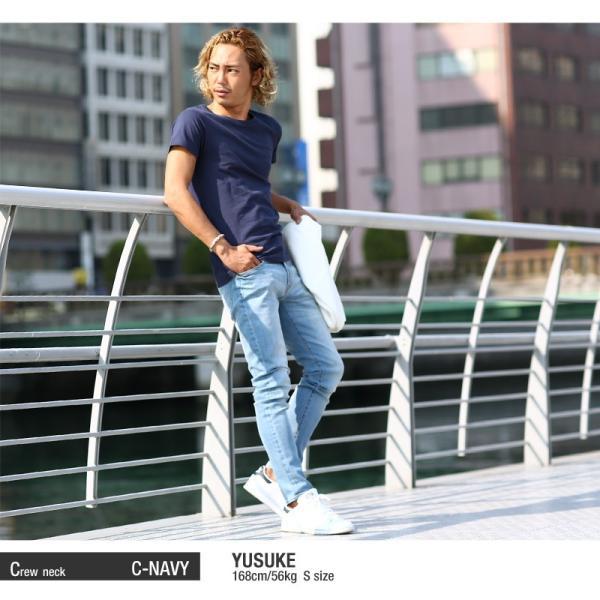 Tシャツ メンズ カットソー アメカジ Vネック Uネック クルーネック 無地 半袖 コットン|improves|14