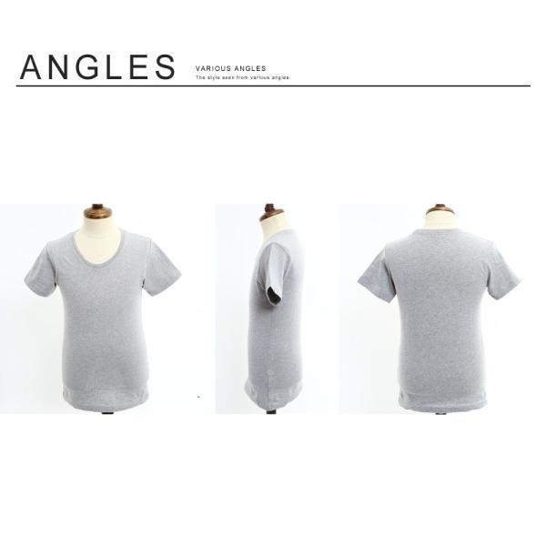 Tシャツ メンズ カットソー アメカジ Vネック Uネック クルーネック 無地 半袖 コットン|improves|16