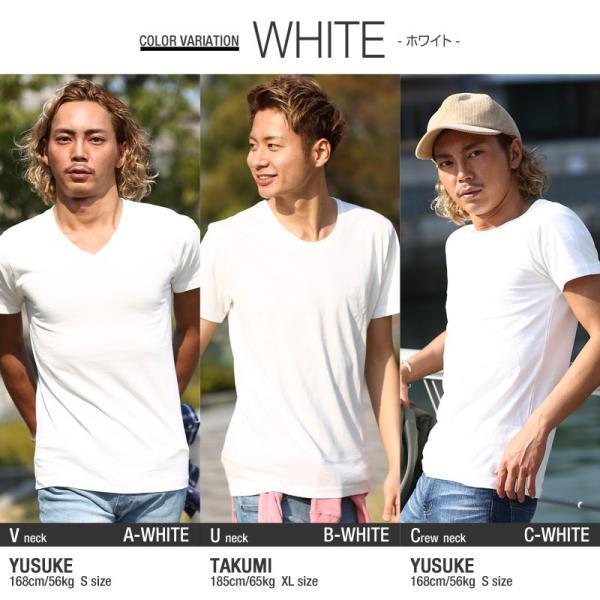 Tシャツ メンズ カットソー アメカジ Vネック Uネック クルーネック 無地 半袖 コットン|improves|08