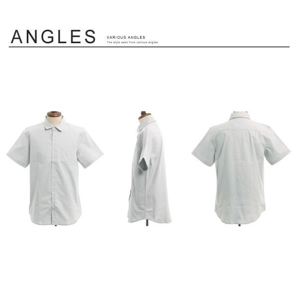 シャツ メンズ 半袖 カジュアル 無地 オックスフォード オープンカラーシャツ 開襟シャツ おしゃれ ファッション improves 18