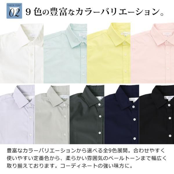 シャツ メンズ 半袖 カジュアル 無地 オックスフォード オープンカラーシャツ 開襟シャツ おしゃれ ファッション improves 07