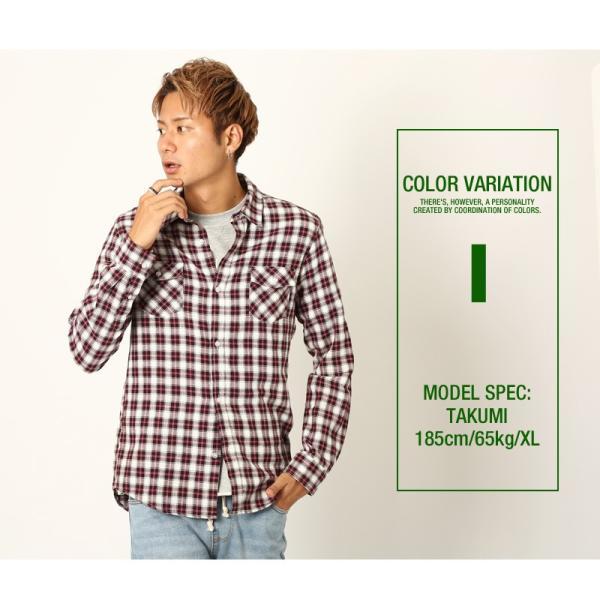 チェックシャツ メンズ コットン カジュアルシャツ シャツ 長袖 アメカジ トップス おしゃれ おしゃれ 夏 夏服 ファッション improves 16