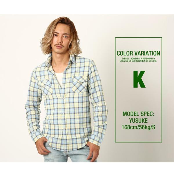 チェックシャツ メンズ コットン カジュアルシャツ シャツ 長袖 アメカジ トップス おしゃれ おしゃれ 夏 夏服 ファッション improves 18