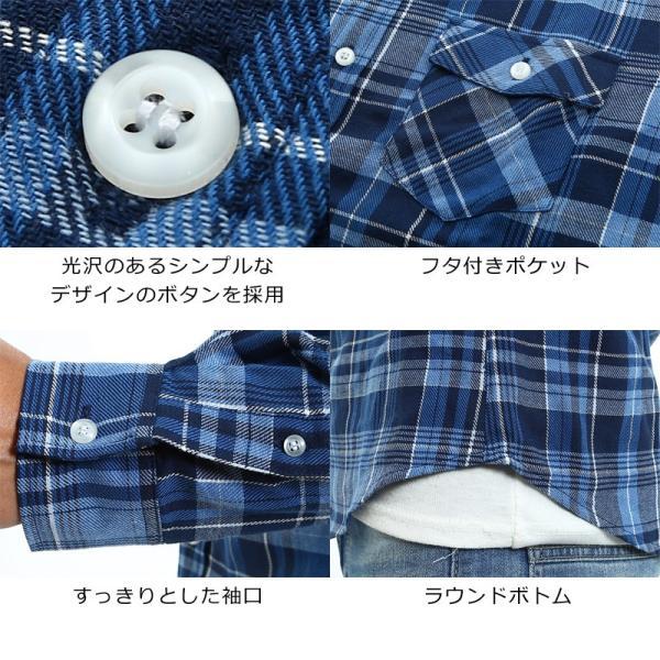 チェックシャツ メンズ コットン カジュアルシャツ シャツ 長袖 アメカジ トップス おしゃれ おしゃれ 夏 夏服 ファッション improves 07