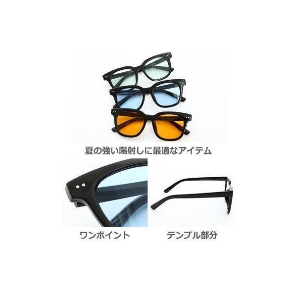 サングラス 新生活アクセ 眼鏡 グラサン ウェリントン型サングラス ライトカラー メンズ 小物 グッズ おしゃれ ファッション improves 03