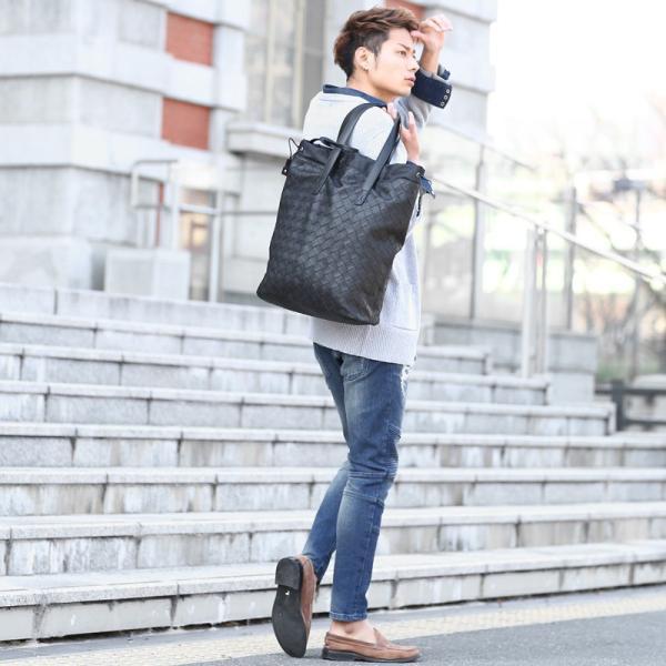 トートバッグ メンズ クラッチバッグ カバン 鞄 バッグインバッグ フェイク レザー 大きめ おしゃれ プレゼント おしゃれ ファッション|improves|12