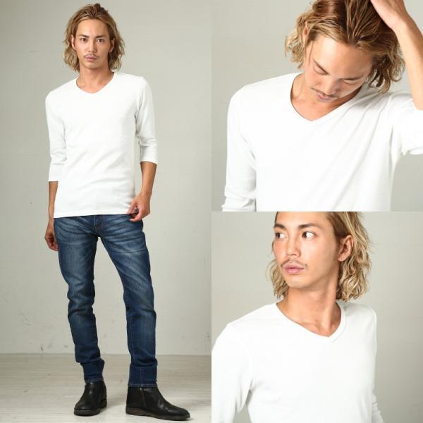 Tシャツ メンズ カットソー 七分袖 7分袖 無地 トップス おしゃれ 夏 夏服 ファッション|improves|15