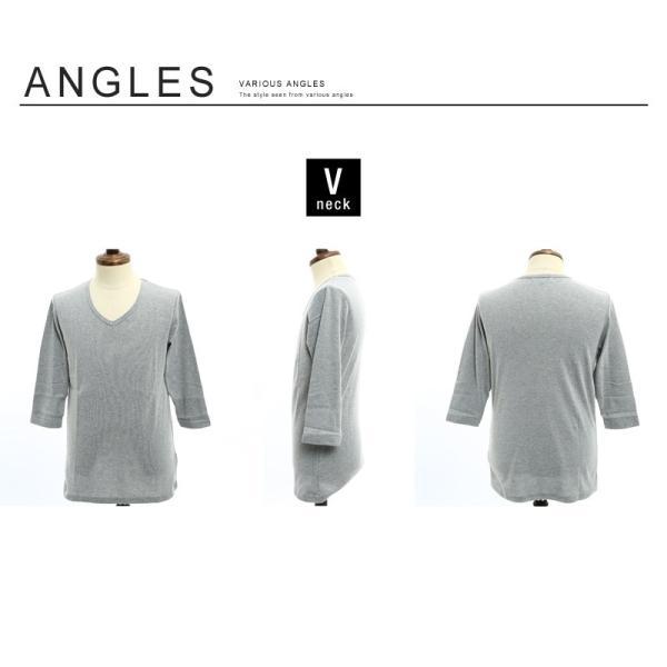 Tシャツ メンズ カットソー 七分袖 7分袖 無地 トップス おしゃれ 夏 夏服 ファッション|improves|19