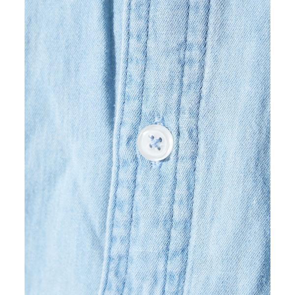 デニムシャツ メンズ 長袖 シャツ カジュアルシャツ ストレッチ コットン トップス ミリタリー おしゃれ 夏 夏服 ファッション 送料無料 メール便対応|improves|11