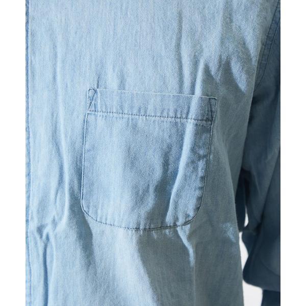デニムシャツ メンズ 長袖 シャツ カジュアルシャツ ストレッチ コットン トップス ミリタリー おしゃれ 夏 夏服 ファッション 送料無料 メール便対応|improves|10