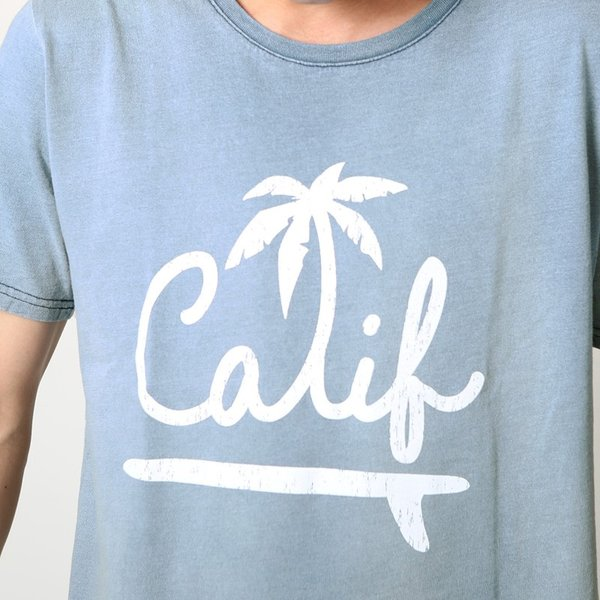 Tシャツ 半袖 インディゴ プリント  カットソー 半袖 アメカジ サーフ系 クルーネック おしゃれ ファッション|improves|07