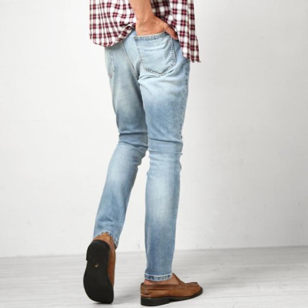 デニム メンズ ボトムス ジーンズ ダメージ加工 ダメージデニム  アンクル ジーパン イージーパンツ ストレッチ おしゃれ ファッション|improves|08