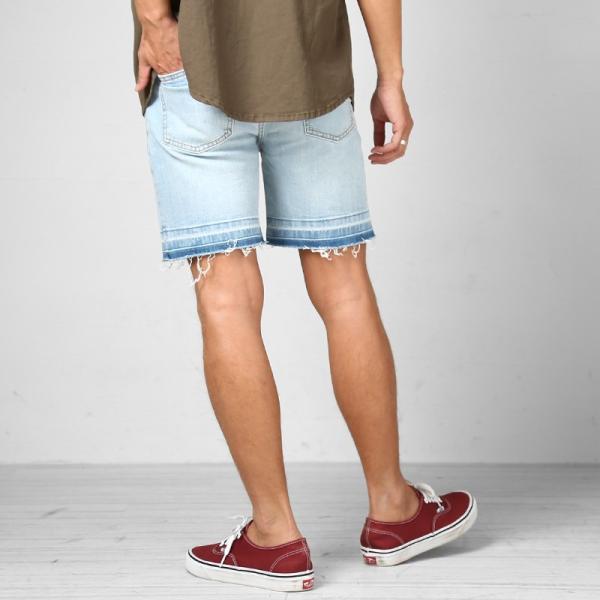 デニム ショートパンツ メンズ ボトムス ダメージ加工 ウエストゴム カットオフデニム  ジーパン イージーパンツ ストレッチ おしゃれ ファッション|improves|08