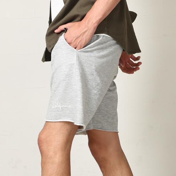 ショートパンツ メンズ スウェット スエット ボトムス カットオフプリント セットアップ カジュアル おしゃれ ファッション|improves|14